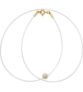 Золотое колье с бриллиантом 1070043