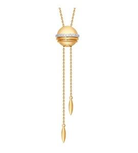 Золотое колье с бриллиантами 1070045