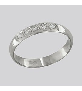Золотое кольцо с бриллиантами 1110075