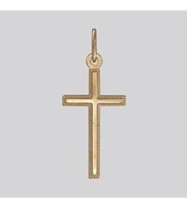 """Золотая подвеска """"крест"""" 121253"""