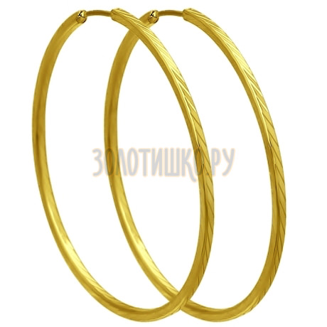 Золотые серьги конго 140011-2