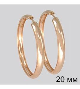 Золотые серьги конго 140016