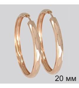 Золотые серьги конго 140019