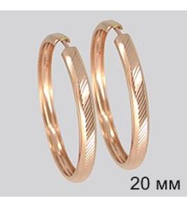Золотые серьги конго 140025