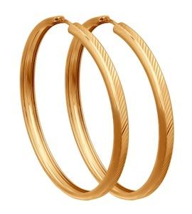 Золотые серьги конго 140027