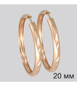 Золотые серьги конго 140040