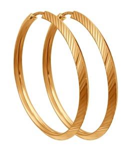 Золотые серьги конго 140045
