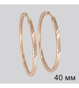 Золотые серьги конго 140047