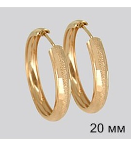 Золотые серьги конго 140055