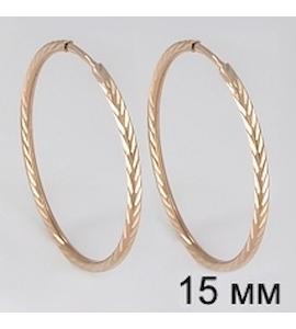 Золотые серьги конго 140066