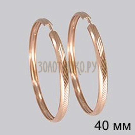 Золотые серьги конго 140094