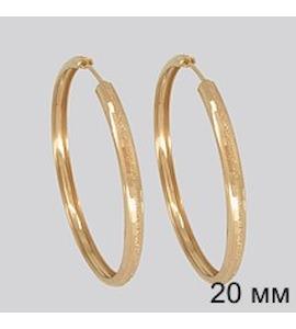 Золотые серьги конго 140107
