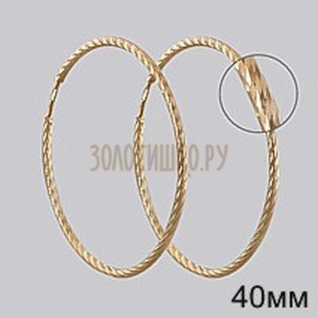 Золотые серьги конго 140149