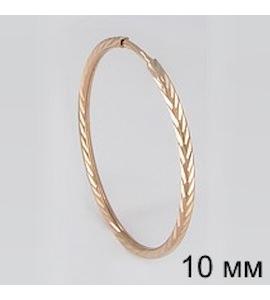 Золотая серьга 170002
