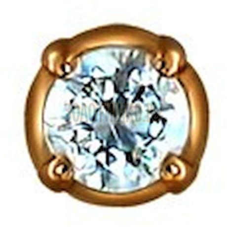 Золотая серьга с фианитом 170004