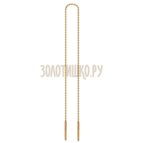 Золотая серьга 170027
