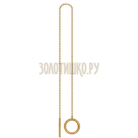 Золотая серьга 170028