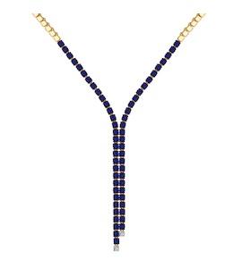 Золотое колье с бриллиантами 6072004