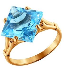 Золотое кольцо с топазом 710278