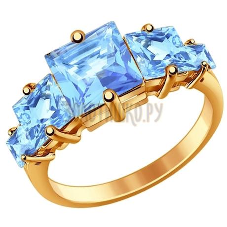 Золотое кольцо с топазами 710700
