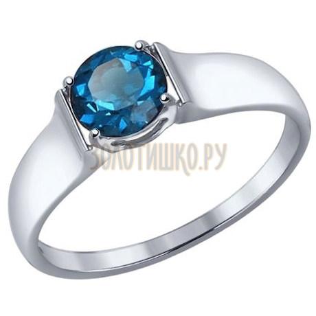 Золотое кольцо с топазом 714447-3