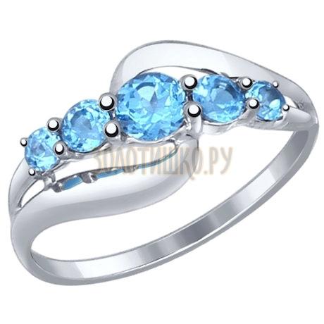 Золотое кольцо с топазами 714535-3