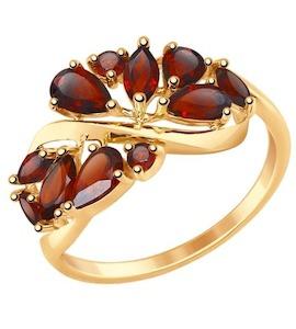 Золотое кольцо с гранатами 714842