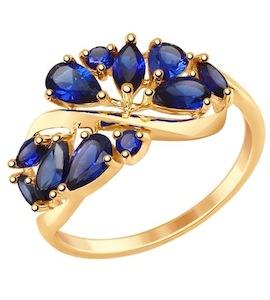 Золотое кольцо с корундами 714843