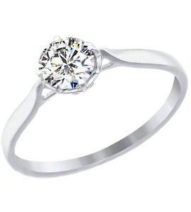 Золотое кольцо с фианитом 81010080