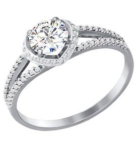 Золотое кольцо с фианитами 81010142