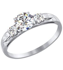 Золотое кольцо с фианитами 81010194-3