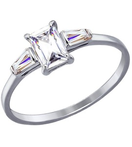 Золотое кольцо с фианитами 81010277
