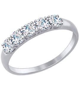 Золотое кольцо с фианитами 81010281-3
