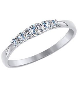 Золотое кольцо с фианитами 81010308