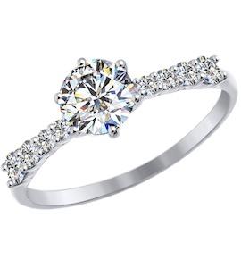Золотое кольцо с фианитами 81010309