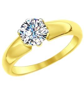 Золотое кольцо с фианитом 81010311