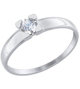 Золотое кольцо с фианитом 81010313