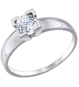 Золотое кольцо с фианитом 81010316