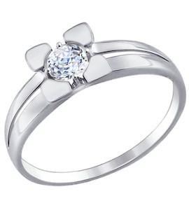 Золотое кольцо с фианитом 81010317