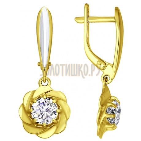 Золотые серьги с фианитами 81020162-2