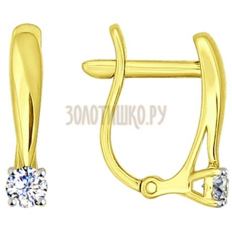 Золотые серьги с фианитами 81020230-2