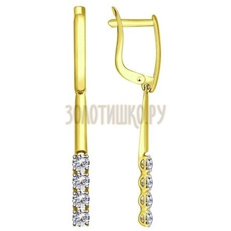 Золотые серьги с фианитами 81020277-2