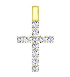 """Золотая подвеска """"крест"""" 81030072-2"""