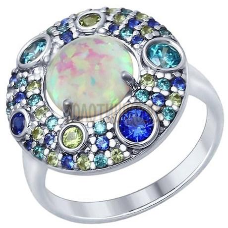 Серебряное кольцо 83010048