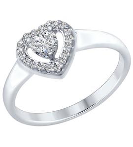 Серебряное кольцо с фианитами 89010068