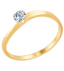 Помолвочное серебряное кольцо 89010092