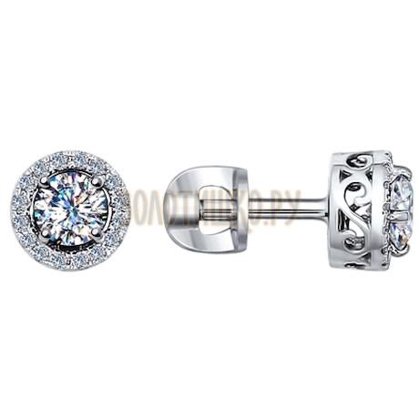 Золотые серьги с бриллиантами 9020011