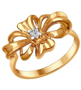 Серебряное кольцо с фианитом 93010676
