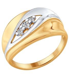 Серебряное кольцо с фианитами 93010681