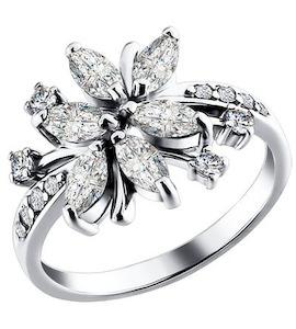 Серебряное кольцо с фианитами 94010138